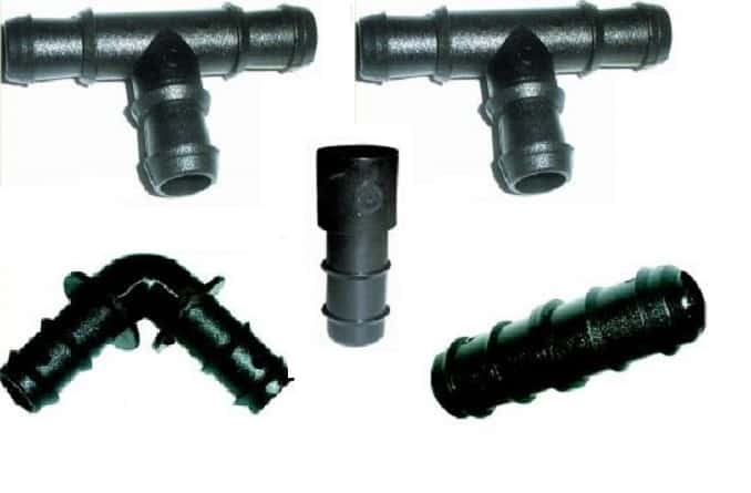 Barbed fittings for irrigation aquatics of all types and